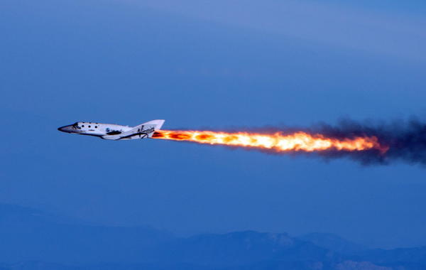 The spacecraft is considered the most viable prospect to be the first commercial spacecraft. Mark Greenberg/Virgin Galactic/AP