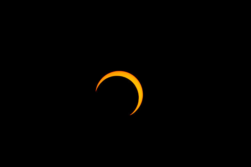 A picture of the eclipse on 5/20/12, taken from Salt Lake City, Utah. Credit: Thephatphilmz