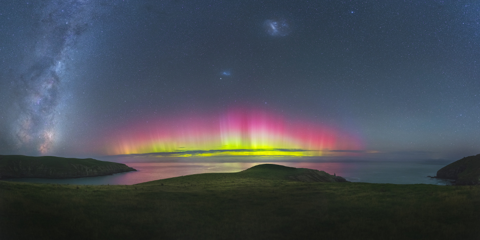 More like unreal. A flared up aurora as seen near Christchurch, New Zealand.