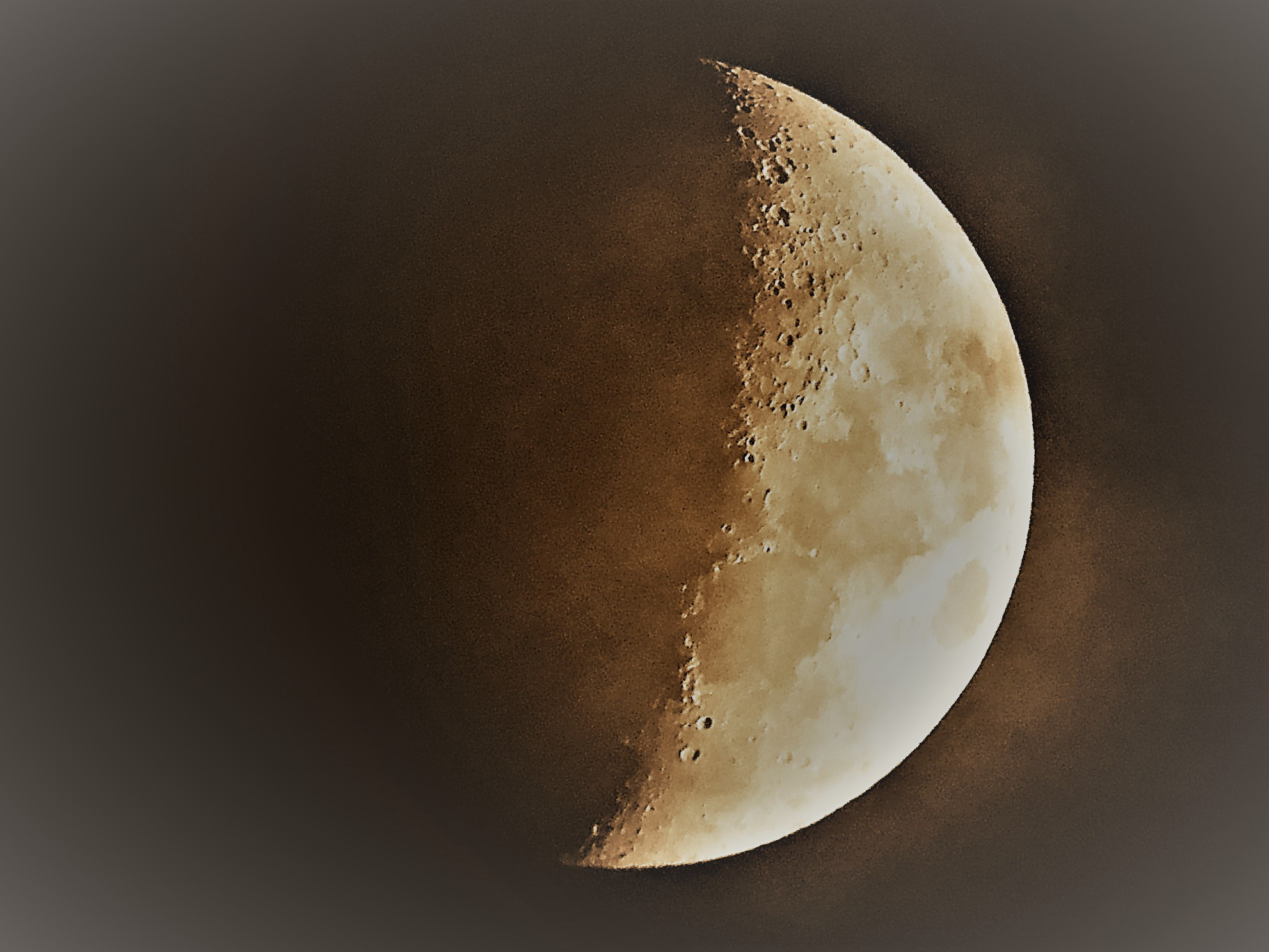 With help from his grandfather, and a new telescope he got for his birthday, photographer Casper Kentish took this photo with an iPad.