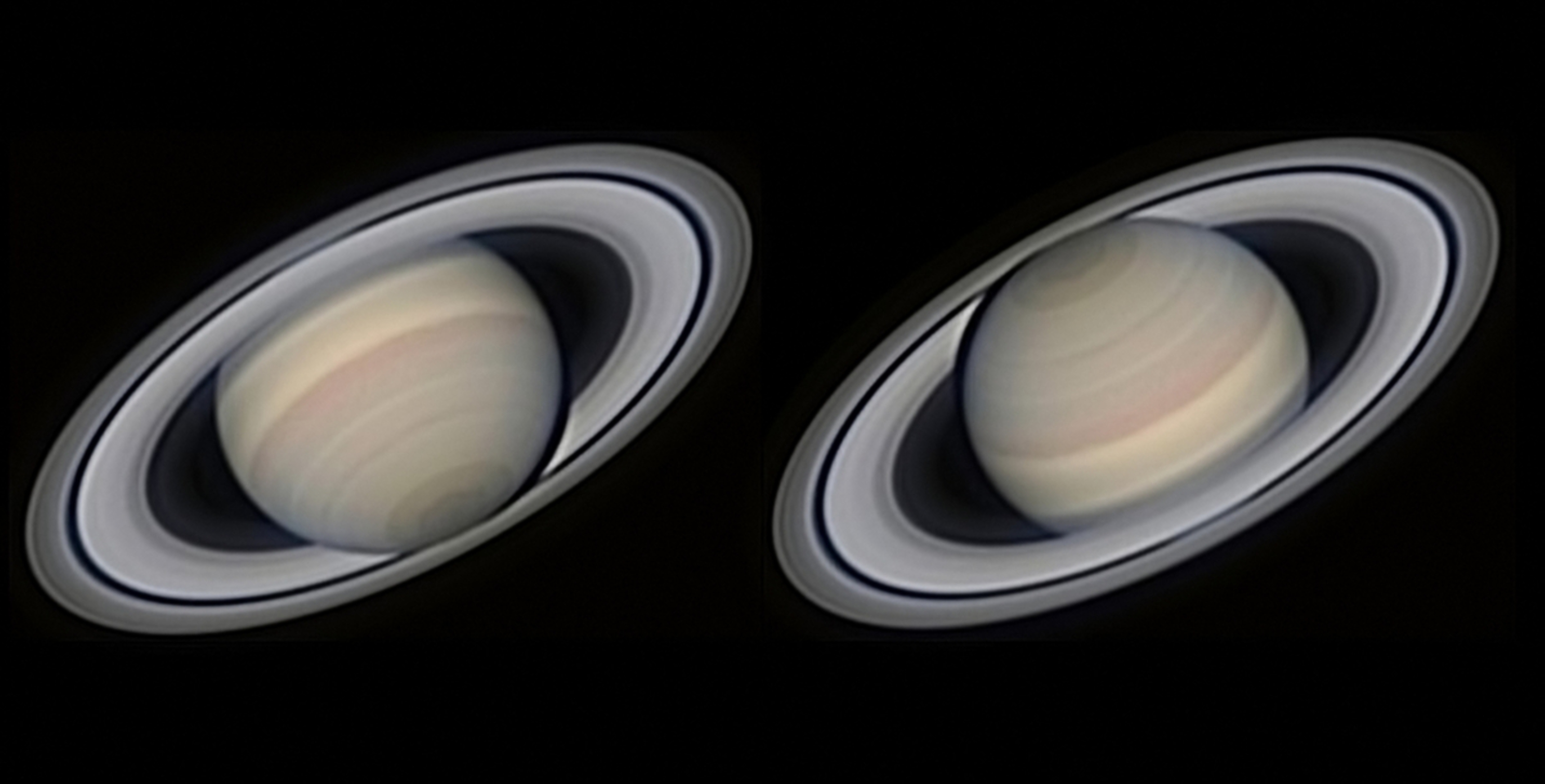 Photographer Avani Soares stacked 4,000 frames to create these stunning images of Saturn, our Solar System's second largest planet.