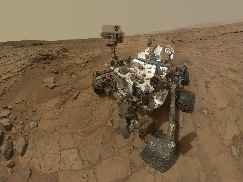 Curiosity self portrait. Credit: NASA.