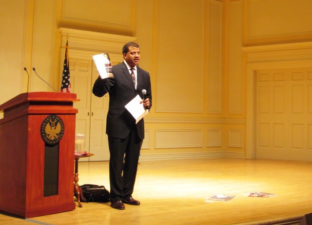Neil deGrasse Tyson hosted talk at the Library of Congress in Washington, D.C.